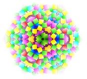 Ornamento da fantasia feito no estilo calidoscópico Foto de Stock