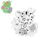 Ornamento da flor Foto de Stock