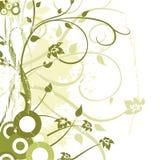 Ornamento da flor de Grunge Fotos de Stock Royalty Free