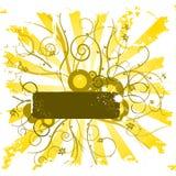 Ornamento da flor de Grunge Imagens de Stock Royalty Free