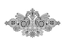 Ornamento da gravura Fotografia de Stock Royalty Free