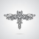Ornamento da libélula Imagem de Stock Royalty Free
