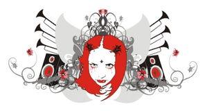 Ornamento da música ilustração royalty free