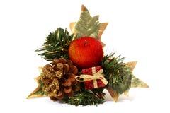Ornamento da maçã do Natal foto de stock