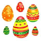 Ornamento da mola dos ovos da páscoa da aquarela Imagem de Stock Royalty Free