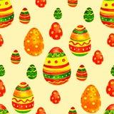 Ornamento da mola dos ovos da páscoa da aquarela Fotos de Stock Royalty Free