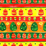 Ornamento da mola dos ovos da páscoa da aquarela Fotografia de Stock