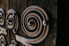 Ornamento da porta Fotografia de Stock