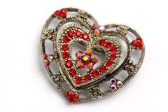 Ornamento dado forma coração 01 do cabelo Imagens de Stock Royalty Free