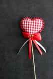 Ornamento dado forma coração do amor do feriado Imagens de Stock