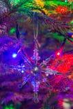 Ornamento dado forma estrela do Natal Fotografia de Stock Royalty Free