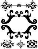 Ornamento das decorações dos divisores Fotografia de Stock Royalty Free