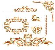 Ornamento das vinhetas dos elementos do vintage ilustração stock