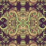 Ornamento de Boho, textura Floral decorativo étnico Imagens de Stock