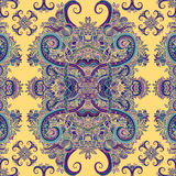 Ornamento de Boho, textura Floral decorativo étnico Teste padrão sem emenda natural da planta floral abstrata Elementos decorativ Foto de Stock