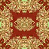 Ornamento de Boho, textura Teste padrão sem emenda natural da planta floral abstrata Elementos decorativos do vintage Floral deco Fotografia de Stock Royalty Free
