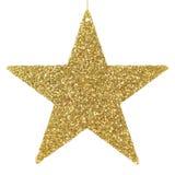 Ornamento de brilho dourado da estrela Imagem de Stock