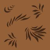 Ornamento de Brown Fotografía de archivo
