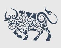 Ornamento de Bull decorativo Fotos de archivo libres de regalías