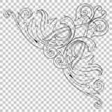 Ornamento de canto do isolado no estilo barroco Imagens de Stock Royalty Free