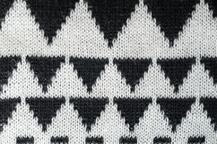 Ornamento de confecção de malhas preto e branco Imagem de Stock