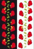 Ornamento de corações e de borboletas das flores Ilustração Stock