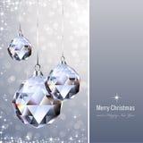 Ornamento de cristal Imagem de Stock Royalty Free