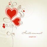 Ornamento de dois corações Fotografia de Stock