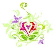 Ornamento de Grunge do amor Fotografia de Stock Royalty Free