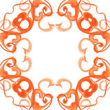 Ornamento de la acuarela Imagen de archivo libre de regalías