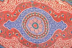 Ornamento de la alfombra vieja foto de archivo libre de regalías