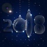 Ornamento de la bola de la Navidad Años Nuevos de celebración Fotografía de archivo libre de regalías