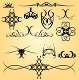 Ornamento de la caligrafía Foto de archivo libre de regalías