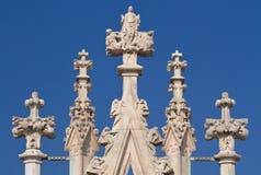 Ornamento de la catedral del Duomo Fotos de archivo libres de regalías