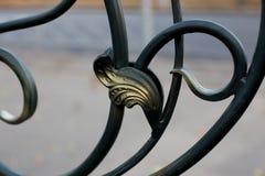 Ornamento de la cerca del metal imagen de archivo
