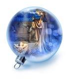 Ornamento de la escena de la natividad de la Navidad fotografía de archivo