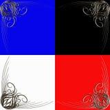 Ornamento de la esquina coloreado ilustración del vector