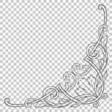 Ornamento de la esquina del aislante en estilo barroco Foto de archivo