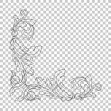 Ornamento de la esquina del aislante en estilo barroco Imágenes de archivo libres de regalías