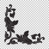 Ornamento de la esquina del aislante en estilo barroco Imagen de archivo libre de regalías