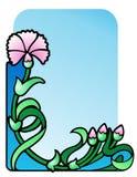 Ornamento de la esquina del clavel Fotos de archivo libres de regalías