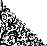 Ornamento de la esquina encrespado simple negro libre illustration