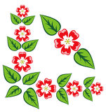 Ornamento de la esquina floral del vector original Imagen de archivo libre de regalías