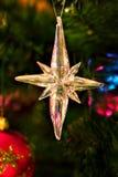 Ornamento de la estrella de la Navidad Foto de archivo