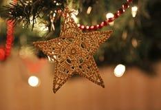 Ornamento de la estrella de la Navidad del fieltro Foto de archivo libre de regalías