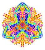 Ornamento de la fantasía hecho en estilo caleidoscópico Ejemplo estilizado de la flor Foto de archivo libre de regalías