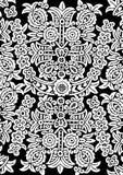 Ornamento de la flor blanca stock de ilustración