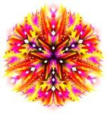 Ornamento de la flor de la fantasía hecho en estilo caleidoscópico Fotografía de archivo