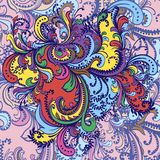Ornamento de la flor. Fondo abstracto. Fotografía de archivo