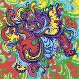Ornamento de la flor. Fondo abstracto. Imagen de archivo